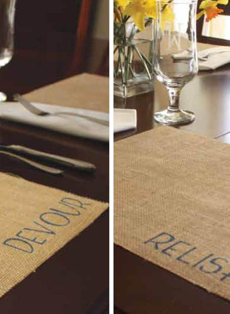 DIY Burlap Table Mats! | Free Burlap Tutorial | Rustic placemats