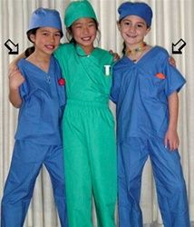 Hyacinth Kid's Scrub Set by Green Scrubs. Perfect for your pint-sized helpers, kid's scrubs for playtime or sleepy-time. #scrubs.com