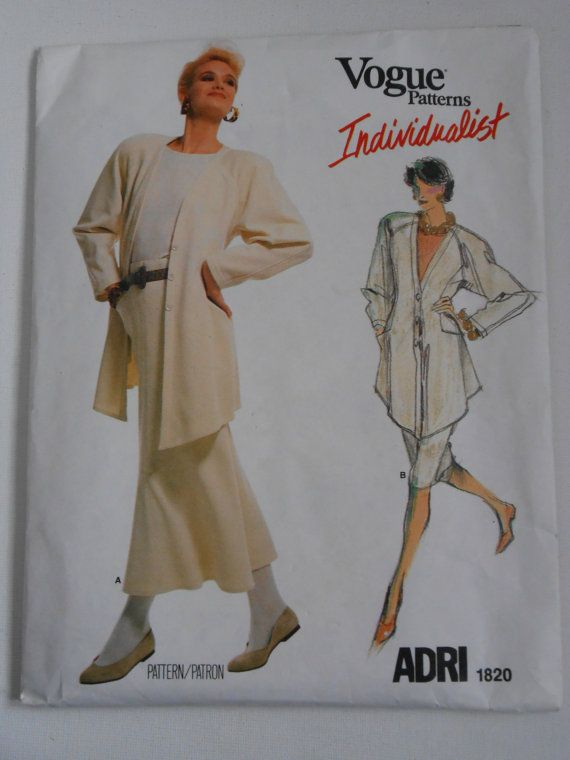 Jacket Skirt and Top Pattern Vogue Individualist by lisaanne1960