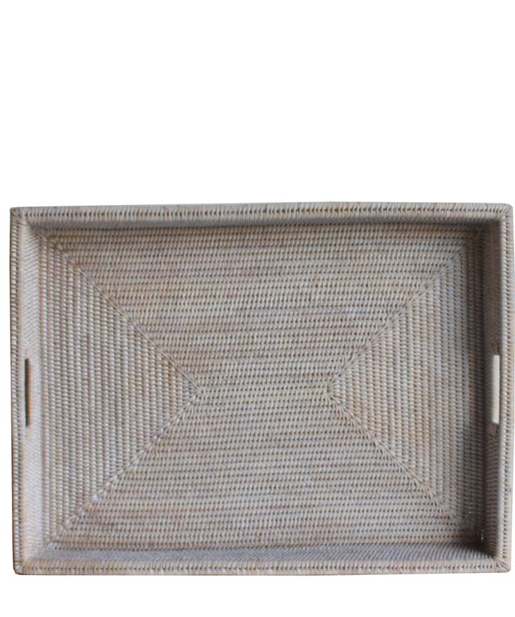 Large Woven Rectangular Serving Tray, White Wash Completely Hand Woven,  Very High Quality Perfect For Serving Guests, Or Holding Items On A Coffee  Table!