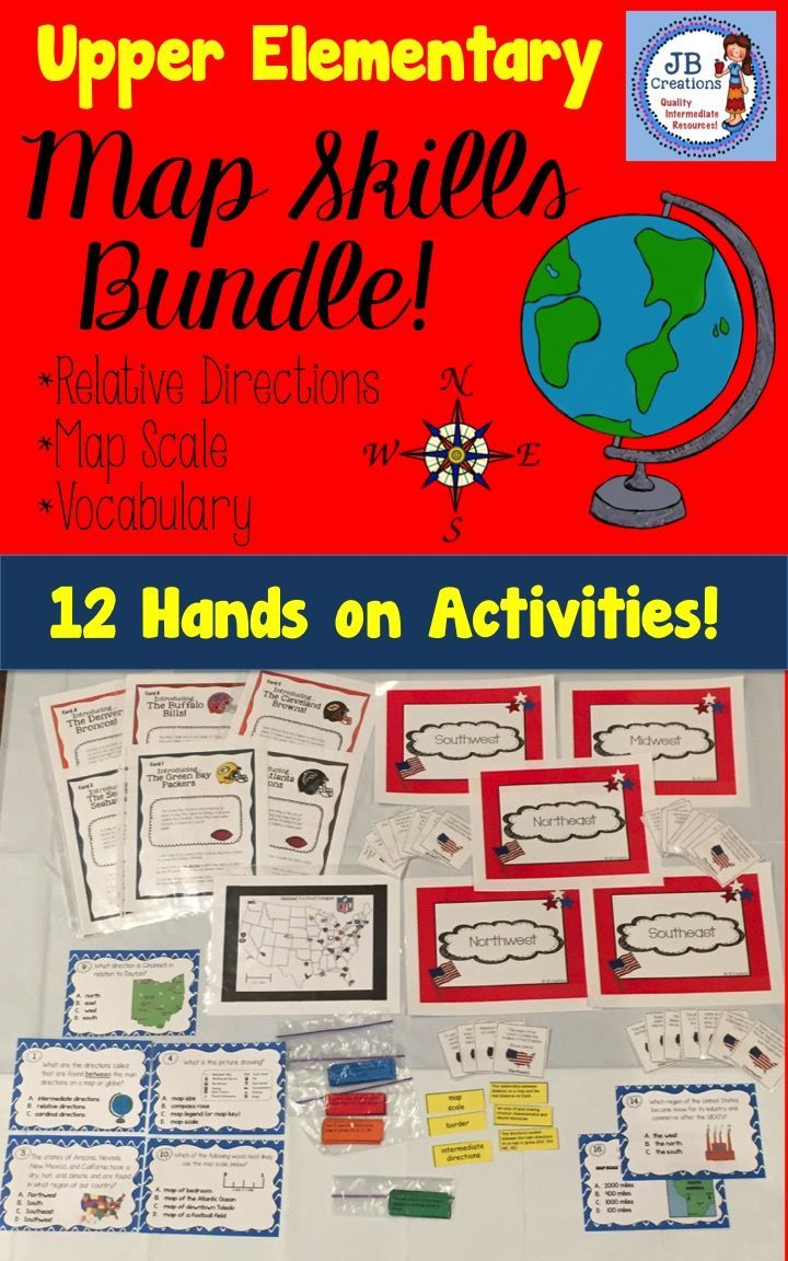 Need to add some fun to your map skills unit? This interactive unit will have students moving, interacting, organizing, and learning with key map skill concepts such as relative location, regions of the USA, map legends and keys, cardinal & intermediate directions, map scale, and many more! In addition, content specific vocabulary (tier 3 words) and a complete assessment are provided…