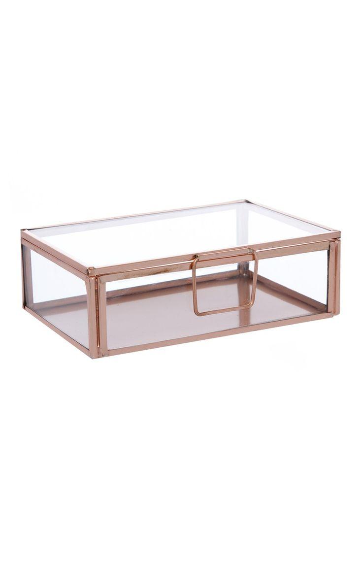 Primark - Caixa de bijutaria de vidro