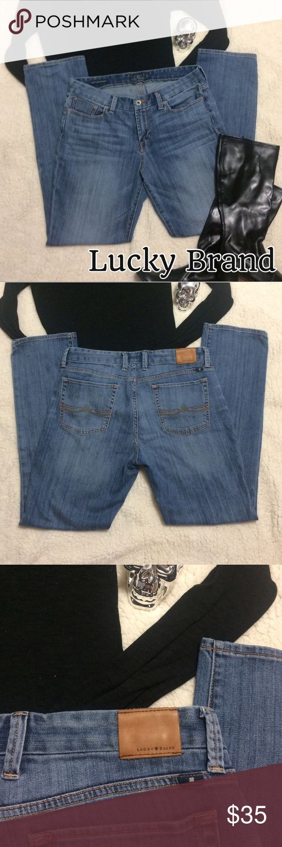 Lucky Brand Jeans - Sweet Jean Straight Like New, no flaws. 14/32 R, they are very nice and soft too Lucky Brand Pants Straight Leg