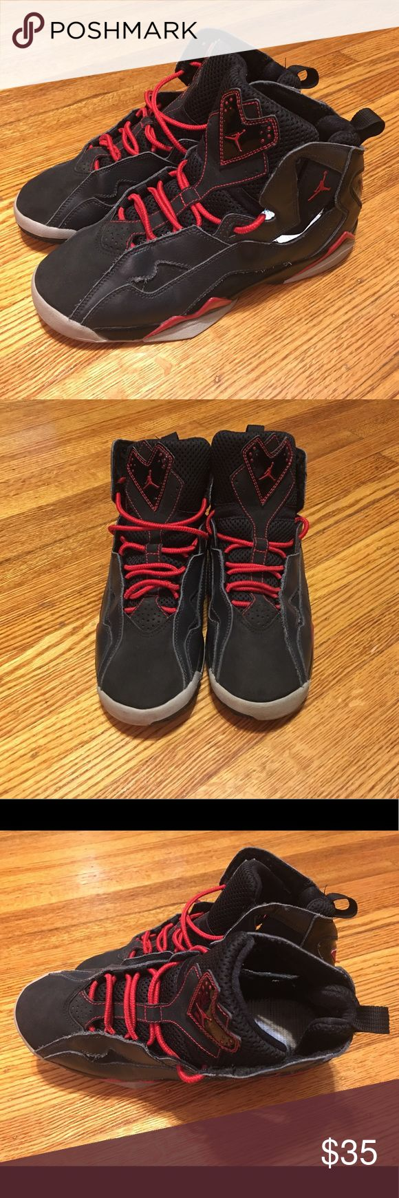 🛍 MAKE OFFER Nike Jordan True Flights Size 6.5y Black, Grey and Red Nike Jordan True Flights. Needs insoles. Nike Shoes Sneakers