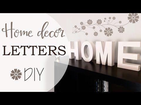 Tuto: Lettere per decorare casa - ENG SUBS Home decor Letters - YouTube