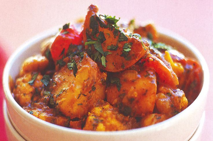Rich, spicy cauliflower and potato curry is a hearty meal for cold winter nights.
