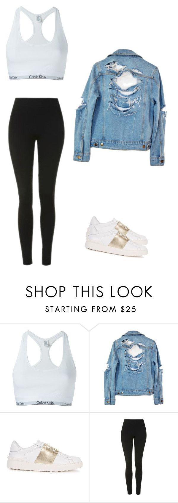 """Madison Beer style"" by cheyyy13 ❤ liked on Polyvore featuring Calvin Klein Underwear, High Heels Suicide, Valentino and Topshop"