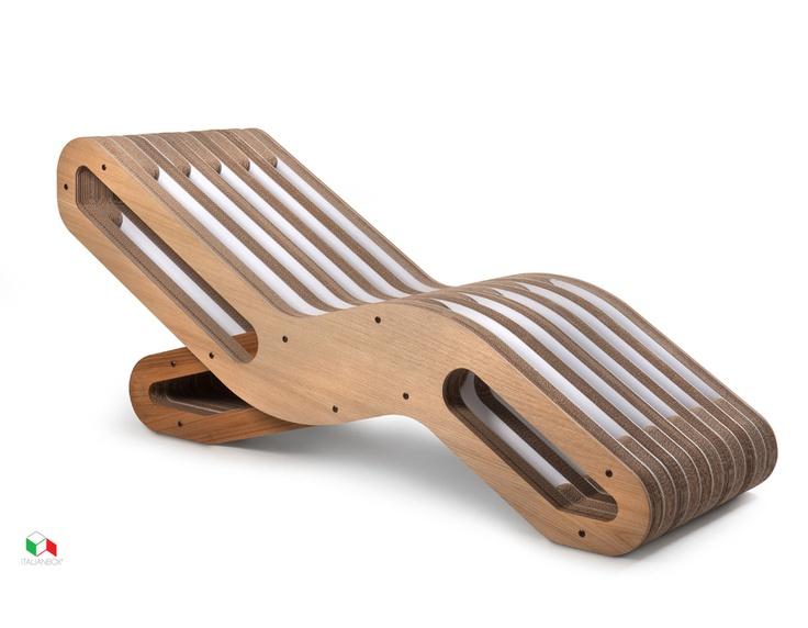 Chaise Longue 2ONDE TOP Oak - Ecodesign Collection - Sofa, Chairs & Ottomans   Italian Box
