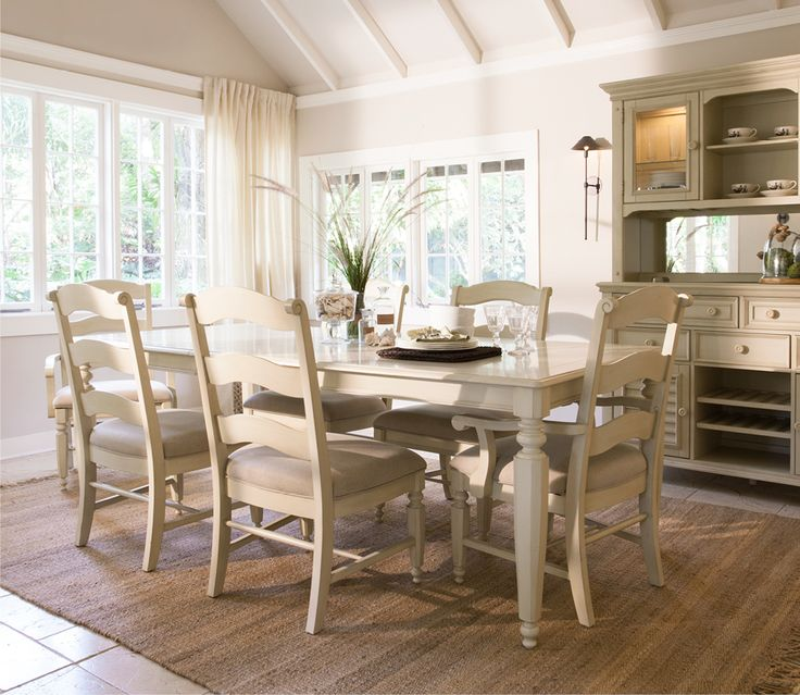 The Claire White Dining Set With Ladderback Chairs Easily Fits Into Your  Eat In Kitchen Or Coastal Dining Room.
