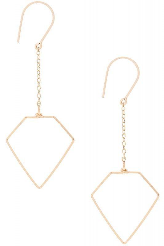 By Philippe Ohrhänger kleiner Diamant gold. www.styleserver.de