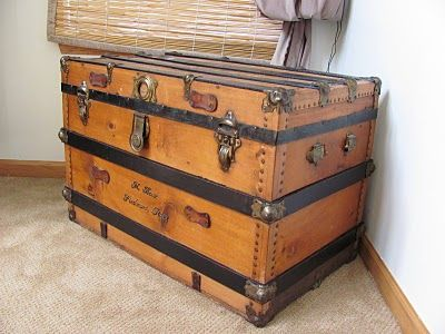 All kinds of ideas for redoing old trunks