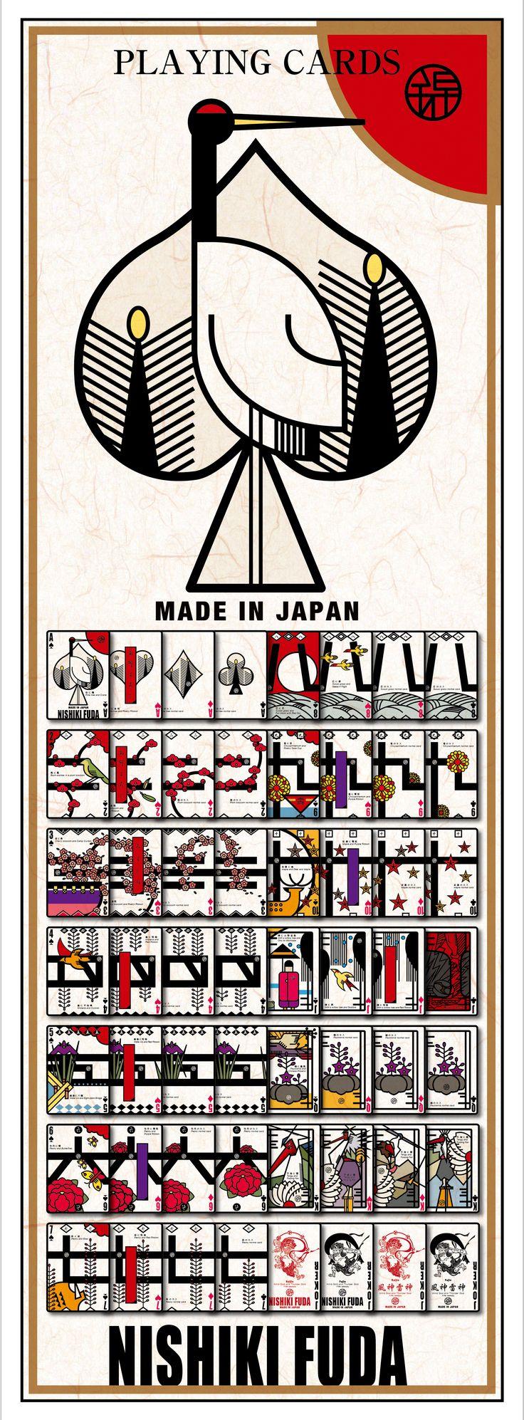 「 錦花札トランプ」 花札をモチーフに株札要素も取り入れたポーカーサイズのトランプ。 6月23日にオープンする銀座ロフト店にてデビューです。