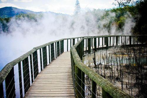 Rotarua - New Zealand...Where this bridge brings you ?
