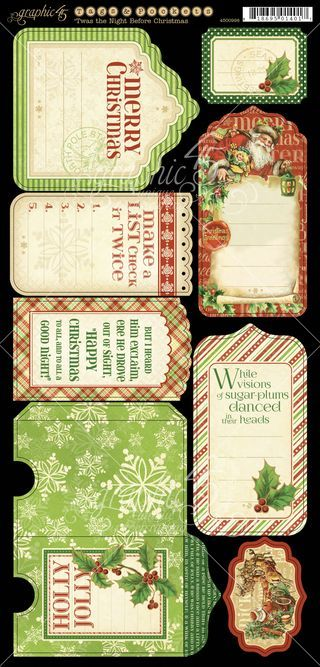 'Twas the Night Before Christmas Cardstock Tags & Pockets 1. In stores in August! #Graphic45