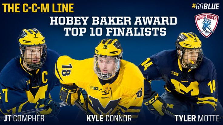 Michigan Hockey's JT Compher, Kyle Connor and Tyler Motte Named ...