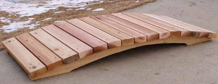 How to Build a Low Arched Footbridge and Garden Bridge - Part 1