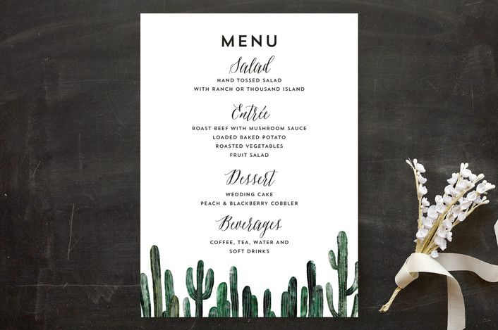 Cacti Menu Cards by Cass Loh at minted.com