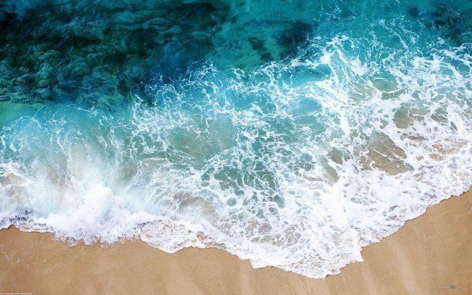 Water Foam At The Seaside Hd Wallpaper Free Image Download High Resolution Wallpaper Downlo Summer Desktop Backgrounds Summer Wallpaper Laptop Wallpaper