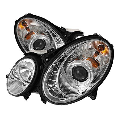 Spyder Auto Mercedes Benz W211 E-Class Chrome DRL LED Crystal Headlight