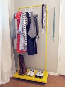 Storage | Glee: DIY rolling rack