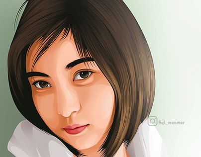 """fan art beautiful Asian girl vector vexel"" http://be.net/gallery/38418949/fan-art-beautiful-Asian-girl"