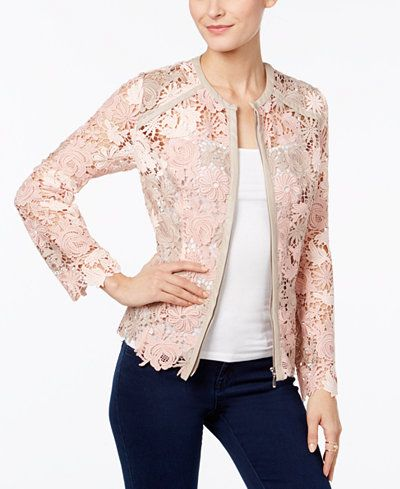 INC International Concepts Lace Jacket, Only at Macy's