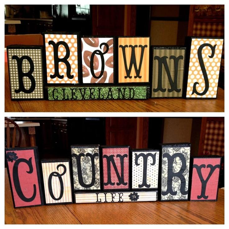 Personalized wood blocks