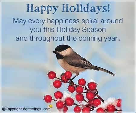 Send happy holidays wishes to your friend who is going on a vacation.