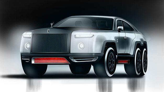 Après Mercedes, Land Rover (Kahn Design) et Ford (Hennessey), voici que des images improbables d'un Rolls-Royce 6x6 circulent sur la toile!