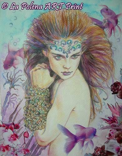 Regno sottomarino principessa sirena Art Print di LaPolena su Etsy