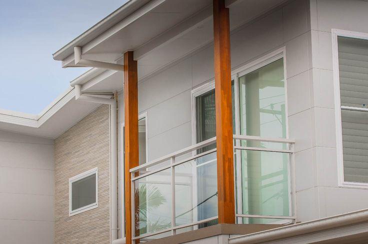 Designer Series Smooth Mocha & Textured Alpine create a beachy vibe on this apartment block.