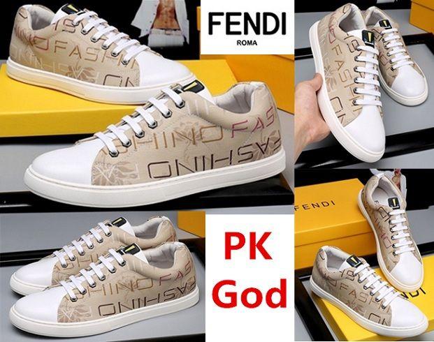 7e049f5d Fendi shoes FF Logo Sneakers leather PK God original Perfectkicks ...