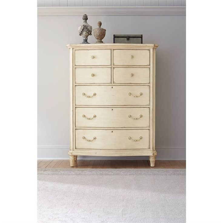 European Cottage Chest In Vintage White Dresser Bedroom Stanley Furniture