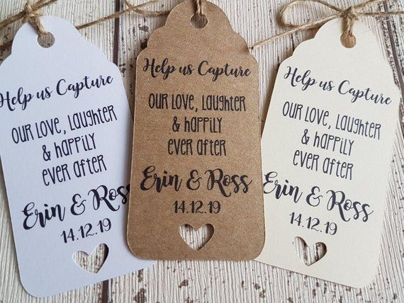 Unplugged Wedding Gift Tag Guest Label Favour Kraft Personalised