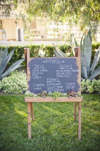 Creative chalk board menu