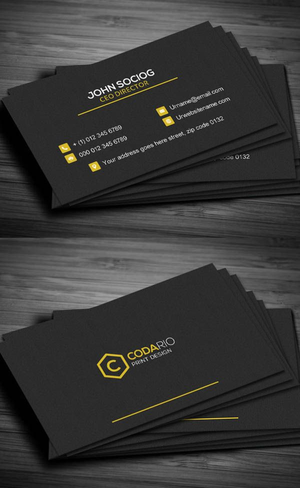 Construction Business Card  Print Ready Designs  Construction business cards Modern business
