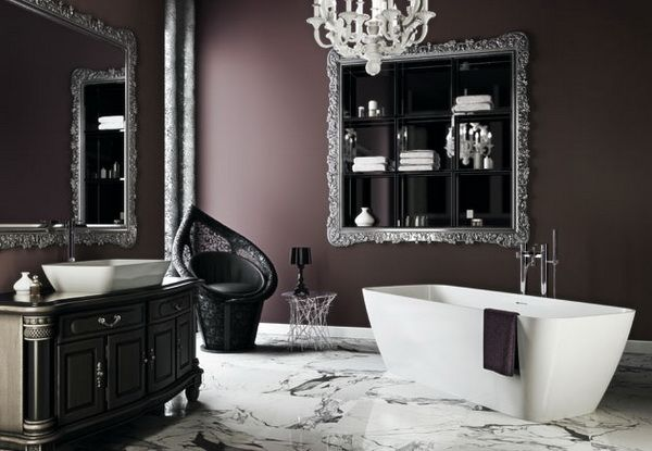 17 best ideas about dark purple bathroom on pinterest purple bathrooms bathroom ideas and Purple and black bathroom ideas