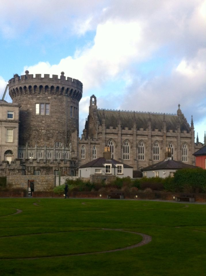 Side view of Dublin Castle