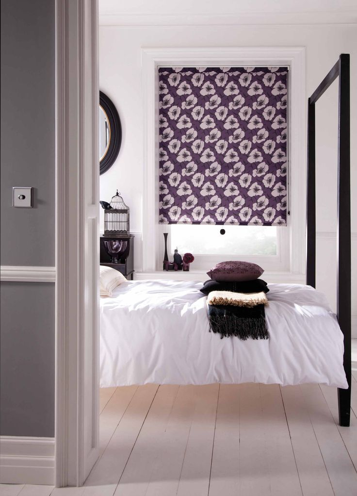 Poppy Purple Roller Blinds