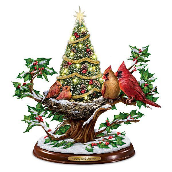 Illuminated Tabletop Ceramic Christmas Trees