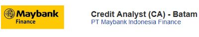 Lowongan Kerja Bank Batam Januari 2017 PT Maybank Indonesia Finance