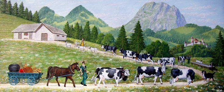 Peinture d 39 une poya suisse sur bois suisse pinterest for Agessa ou maison des artistes