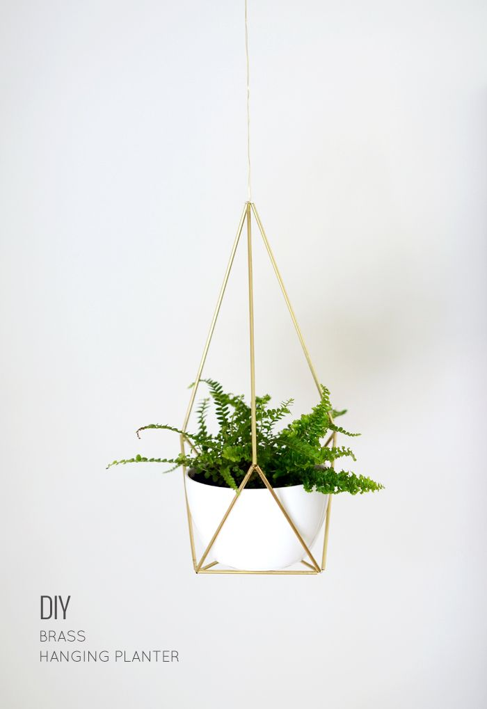 Nalle's House: DIY Brass Himmeli Hanging Planter