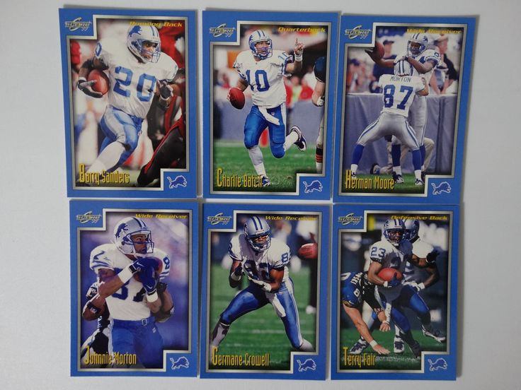 1999 Score Series 1 Detroit Lions Team Set of 6 Football Cards #DetroitLions