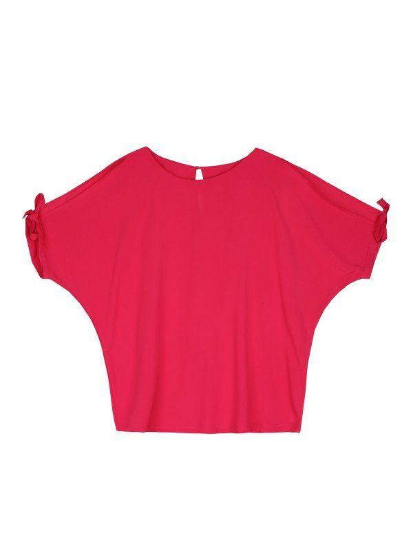 bluzka krótki rękaw  różowa - SBK2244 TOP SECRET