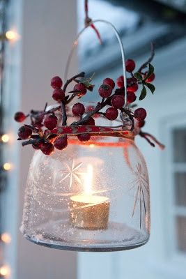 DIY lantern great for Christmas or can be customized to any holiday or simply use as lovely outdoor patio / garden decor