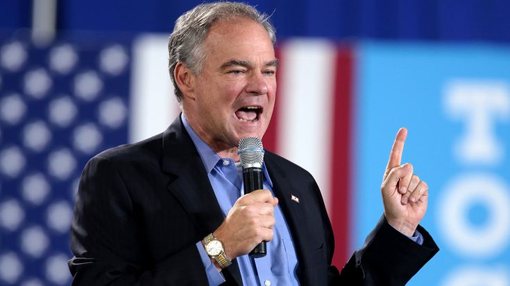 "Kaine said Trump should ""own up to the job"" of being president."
