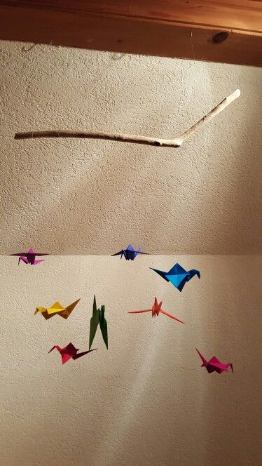 Mobile origami bird