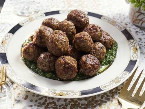 """Lamb Meatballs with Gremolata (Booze and Bites) - Tia Mowry, """"Tia Mowry at Home"""" on the Cooking Channel."""