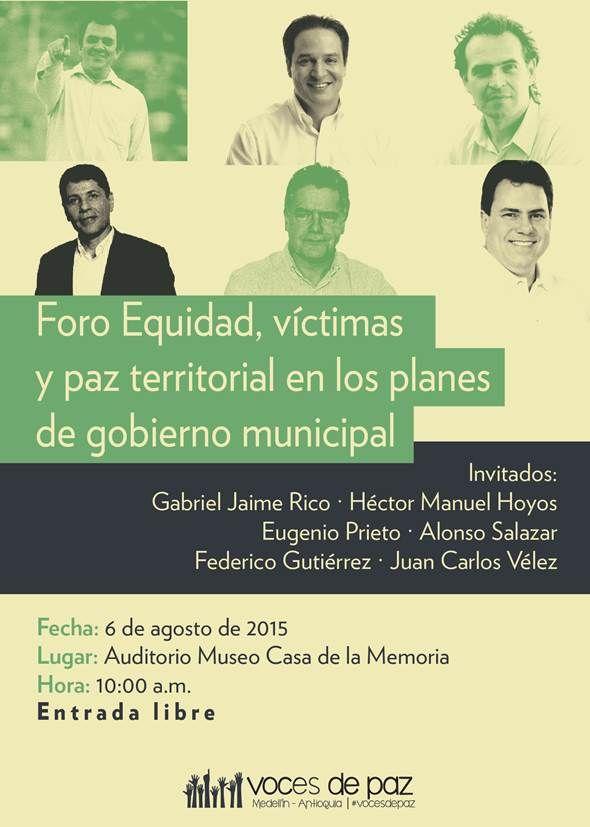 Hablemos de las víctimas en el Museo Casa de la Memoria.  Fecha: 6 de agosto.
